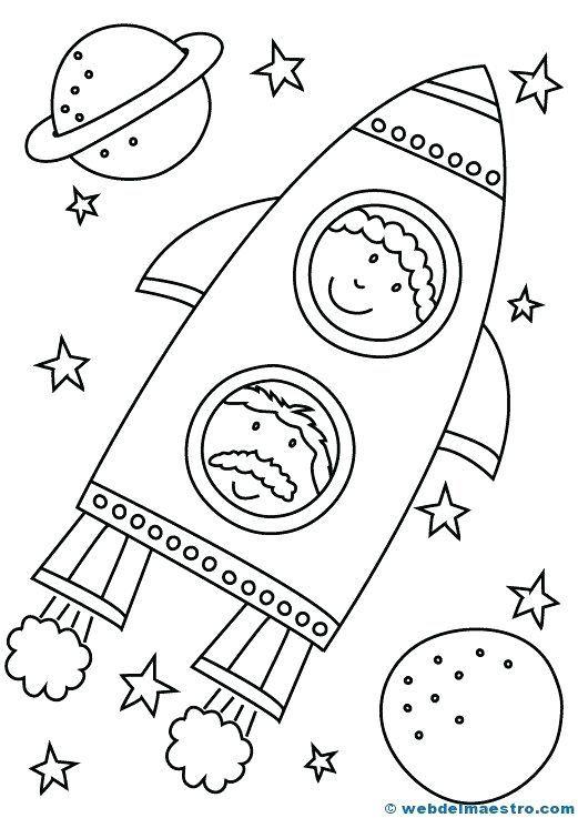 Cohete Para Colorear Para Web Maestro Dibujo Cohete Para Colorear Dibujos Del Espacio Dibujos Para Colorear Espacio Artesanal