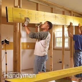 How to install a load bearing beam beams for Can a load bearing wall be removed