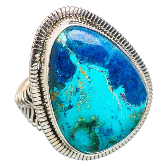 Large Shattuckite 925 Sterling Silver Ring Size 7.75 RING768515