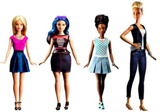 Barbie tem corpos novos