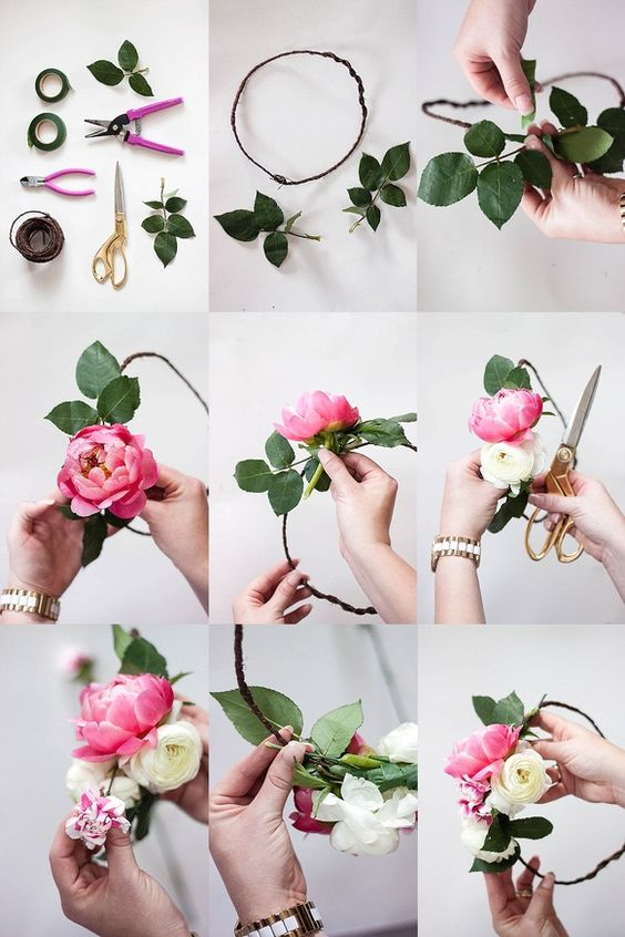 How to make a flower crown // flower crown bar // bridal shower: