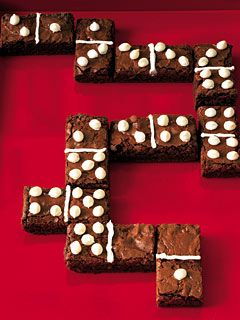 Domino brownies: game night and snack time all in one!
