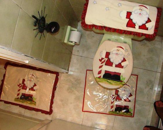 Lenceria Para El Baño De Navidad:juego de baño