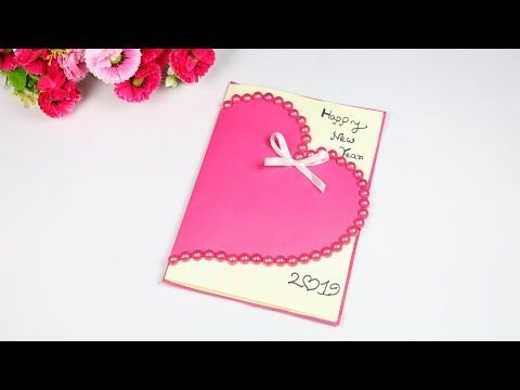 Beautiful Handmade Happy New Year 2019 Card Idea New Year Card