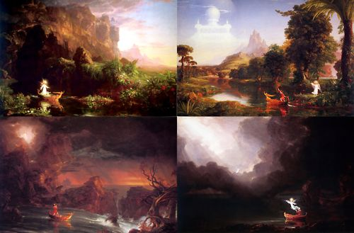 seven stages of life represented by color I believe the 7 stages of man and the masque of the red death are similar because they both are talking about a male and both pieces are written by men.