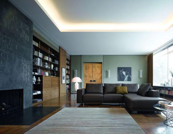Plafond indirecte verlichting verlichting pinterest fans - Faux plafond contemporain ...