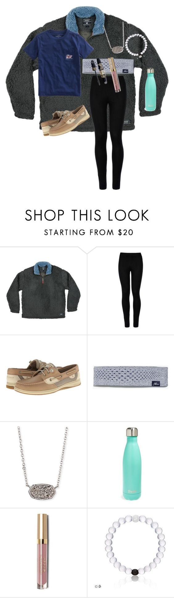 """""""#ootdlazydayz🍕💤"""" by preppy-renee ❤ liked on Polyvore featuring Wolford, Sperry, Vineyard Vines, New Balance, Kendra Scott, S'well, Max Factor, Stila and whatimwearingrightnow"""