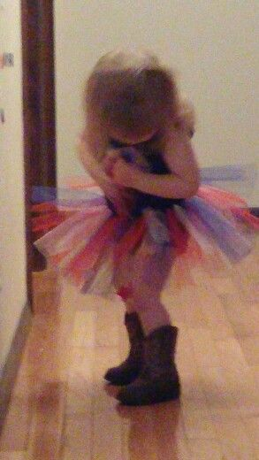 Red, white, and tutu!