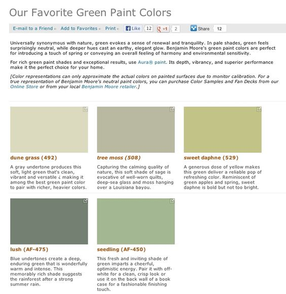 Popular Green Paint Colors favorite, popular, & best selling shades of green paint colors