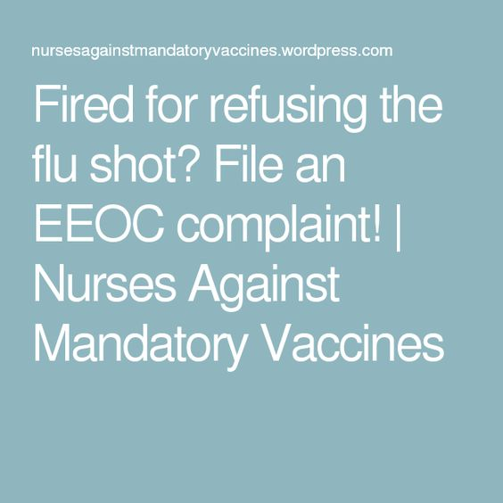 Fired for refusing the flu shot? File an EEOC complaint! Flu - eeoc complaint form