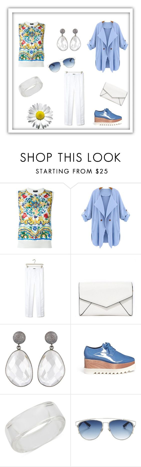 """""""Work Chic"""" by loula2015 ❤ liked on Polyvore featuring Dolce&Gabbana, WithChic, Banana Republic, LULUS, STELLA McCARTNEY, INC International Concepts and Christian Dior"""