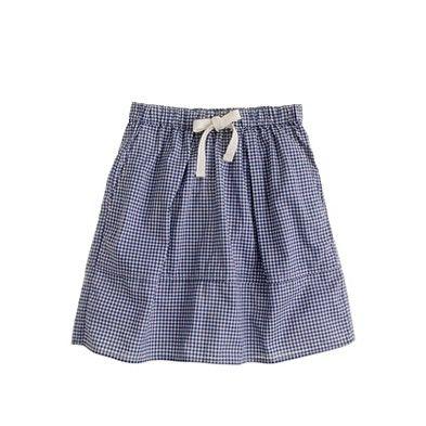 J. Crew Girls' picnic skirt in gingham