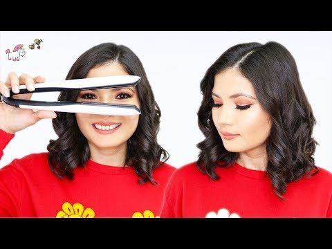 Peinado Como Hacer Ondas En Pelo Corto Bob Con Plancha Youtube Pelo Corto Con Ondas Ondas Para Cabello Corto Y Planchas Para Cabello