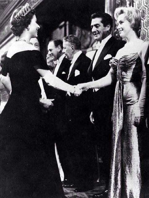 Queen Elizabeth and Marilyn Monroe both aged 30