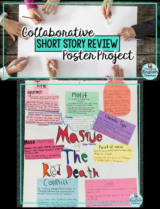 Collaborative Short Story Review Poster Project Middle School