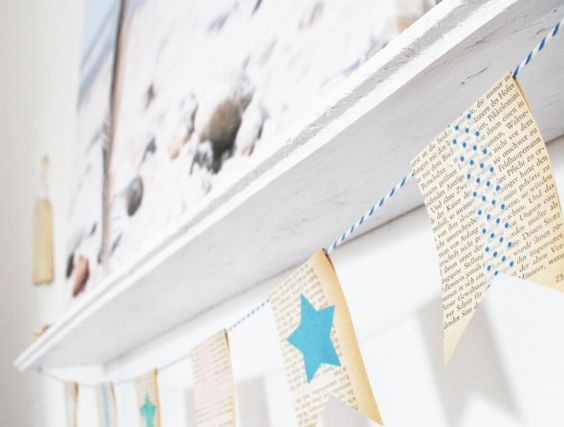 garland from old book pages and pretty paper :: titatoni