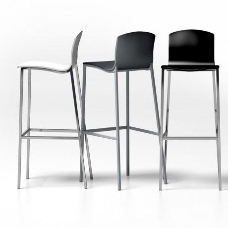 tabouret snack ou bar design seven 187 13 65 cm d 39 assise 88cm dos mob. Black Bedroom Furniture Sets. Home Design Ideas
