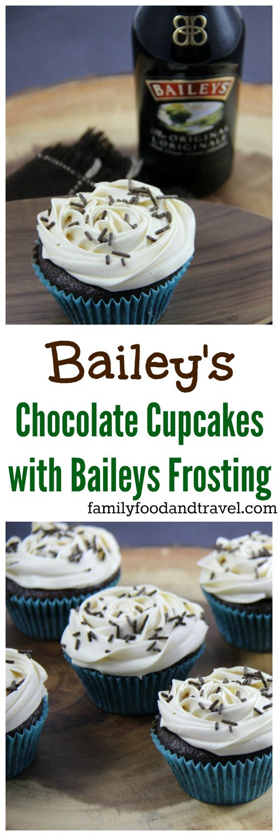 Irish Cream Cupcakes W/ Bailey's Buttercream Frosting Recipe ...