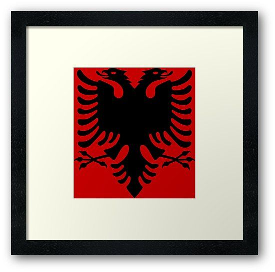 Design Of The Albanian Eagle On The Colors Of The Albanian Flag Also Buy This Artwork On Wall Prints Apparel Stickers An Albanian Eagle Framed Prints Art