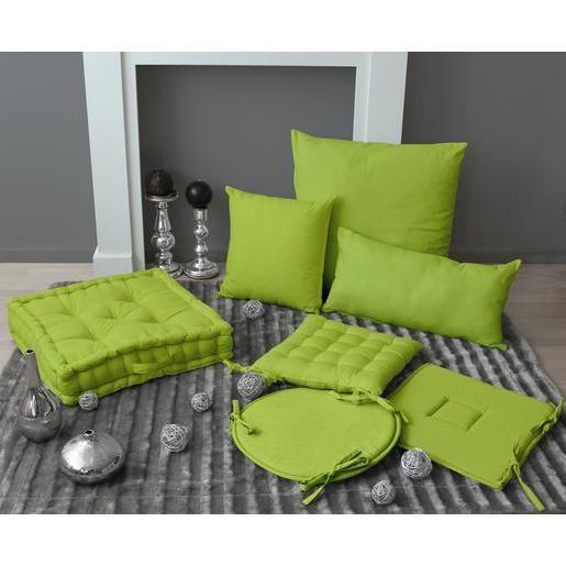 Pouvant Procurer Un Veritable Confort D Assise Ces Galettes A Rabats 100 En Coton Avec Garniture Mousse De Couleur Galette De Chaise Chaise Verte Vert Anis