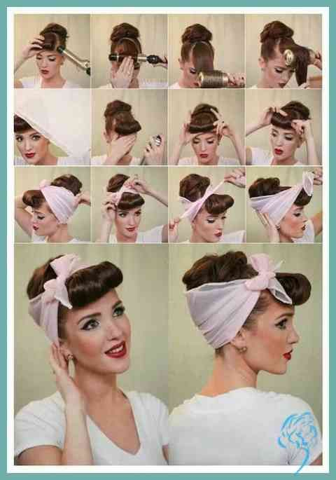Frisur Rock N Roll Frau Damen Frisuren 50er Jahre Frisur Rockabilly Frisur Vintage Frisuren