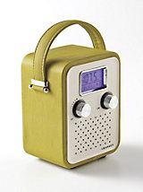 Mini Crosley Radio   Gold Violin