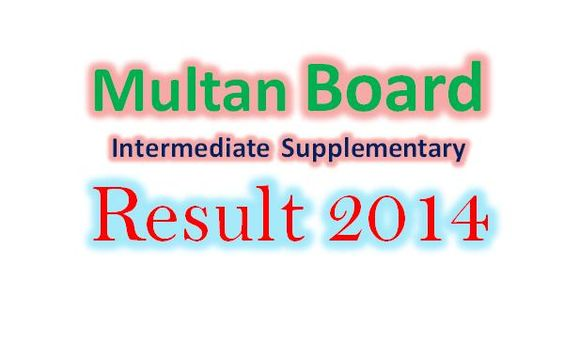 Multan board Inter supply result 2014