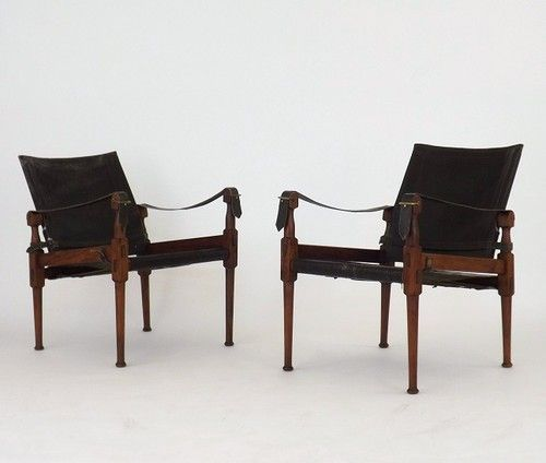 pair mid century modern rosewood safari chair black leather ebay black leather mid century