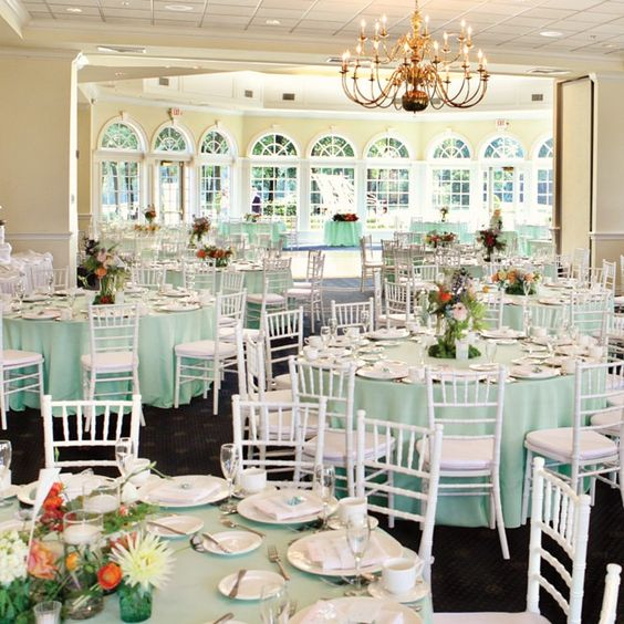 Summer Wedding Reception Room // // Photo By: First Comes