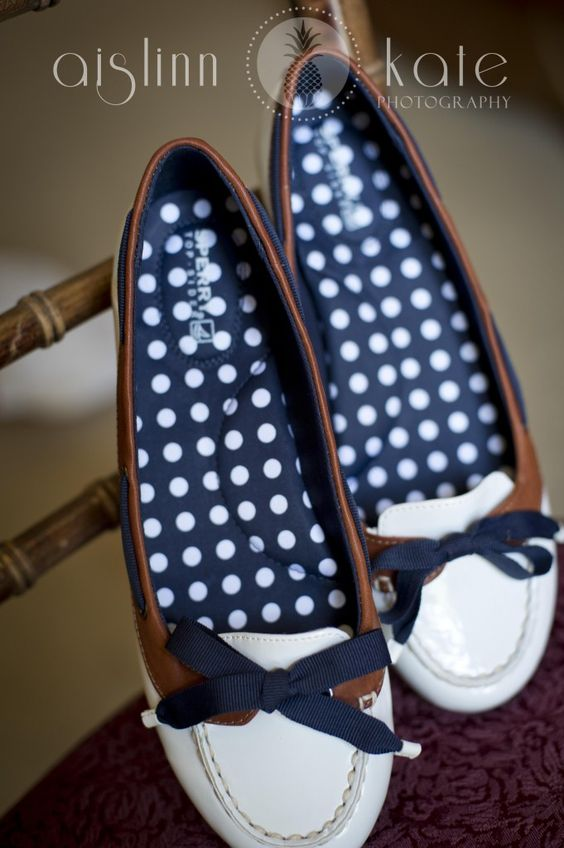 polka dot sperry shoes