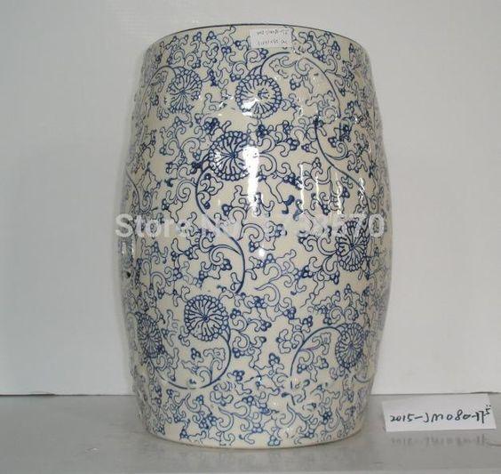 Alibaba グループ | AliExpress.comの 花瓶 からの 製品の説明庭の家具のセラミックスツール材料の品質: セラミックサイズ: 30*30*46色: 青モデル: c-8送料・包装カートンボックス4pcs/カートン私たちのサービス  サンプル30日で顧客を受け入れる設計およびoem。会 中の ガーデン家具セラミック スツール
