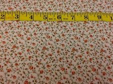 Calico Traditions Fabric Quilting Cotton Feedsack 30's Reproduction Orange Rose