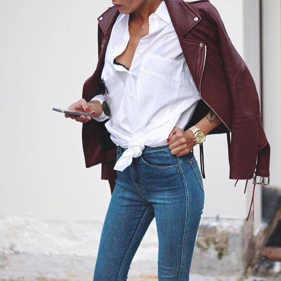 5 Killer Leather Jackets (That Aren't Black) | Her Campus | http://www.hercampus.com/style/5-killer-leather-jackets-aren-t-black