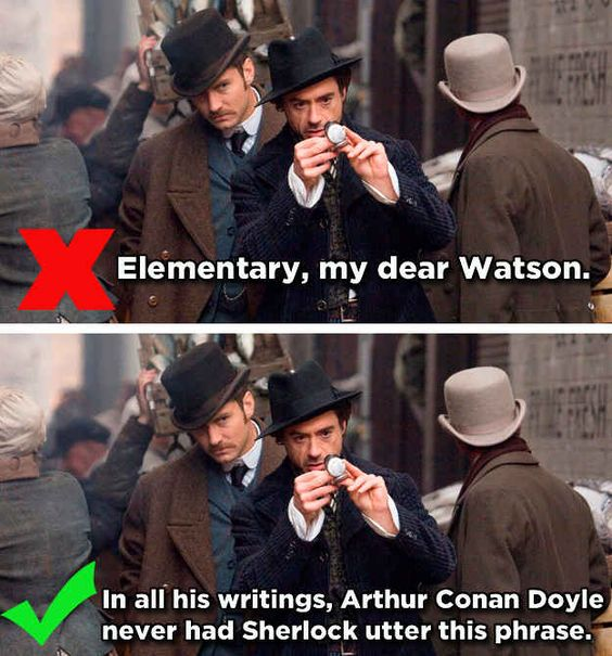 Sherlock's Catchphrase and other famous movie one-liners you've been quoting wrong for years ... (according to BuzzFeed):