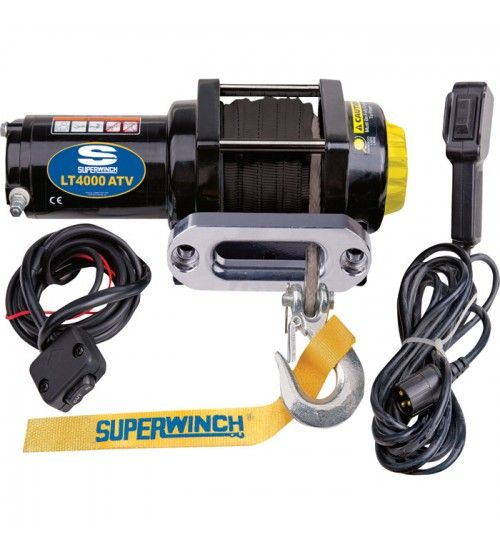Superwinch Lt4000atv Sr 12 Volt Dc Powered Electric Atv Winch 4000lb Capacity 50ft Synthetic Rope Atv Winch Synthetic Rope Winches