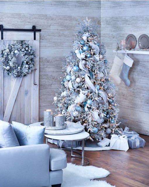 Ideas Tips Blue Christmas Decor White Christmas Trees Blue