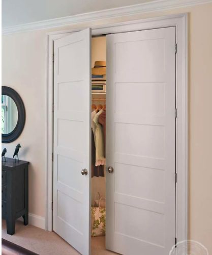 Stiles flats and woods on pinterest for Flat solid wood door