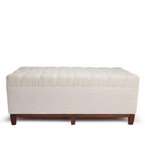 Long Rectangular Chesterfield Style Tufted Ottoman Solid Birch Wood Frame And Turned Beech Legs Upholstered In 100 Ottoman Rectangular Leather Ottoman