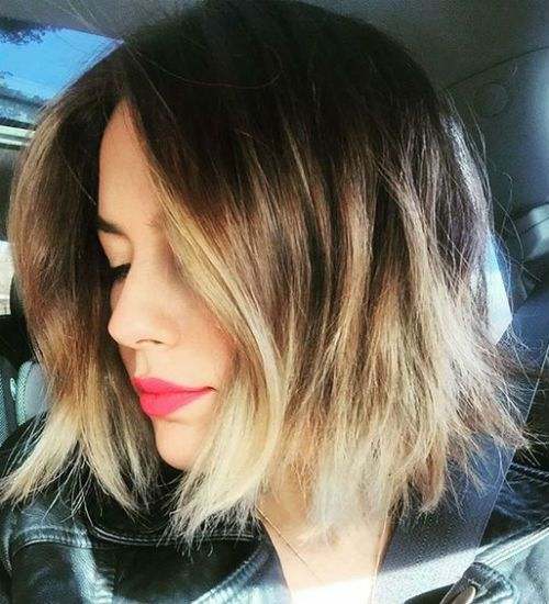 20 Of The Textured Glazed Short Ombre Bob Haircut Styles For Women For 2019 Messy Hairstyle Ombre Bob Haircut Short Bob Hairstyles Bob Hairstyles