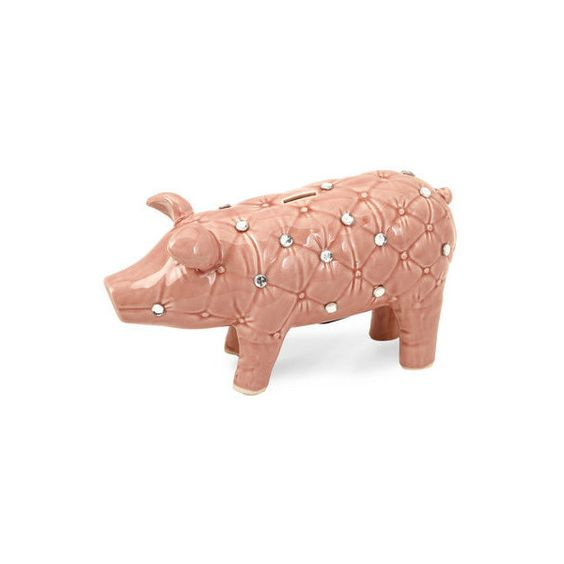 IMAX Home 64135 Abilene Jeweled Piggy Bank Home Decor Statues & found on Polyvore featuring home, home decor, accents and statues & figurines
