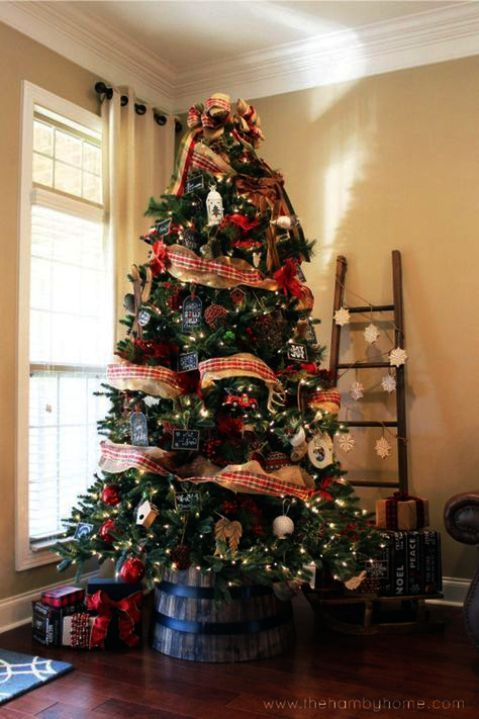 Christmas Trees Decorated In Black And Gold Its Artificial Christmas Trees On Sale C Christmas Decorations Rustic Rustic Christmas Tree Country Christmas Trees