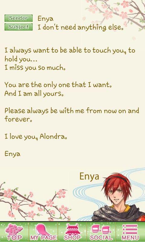 Sweet Love Ending Love Letter From Enya Destiny Ninja  Anime