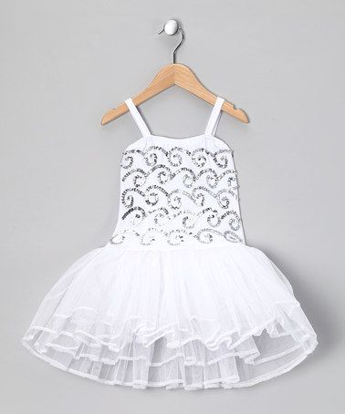 Take a look at this White Stella Luna Skirted Leotard - Toddler & Girls by Fairy Dreams on #zulily today!