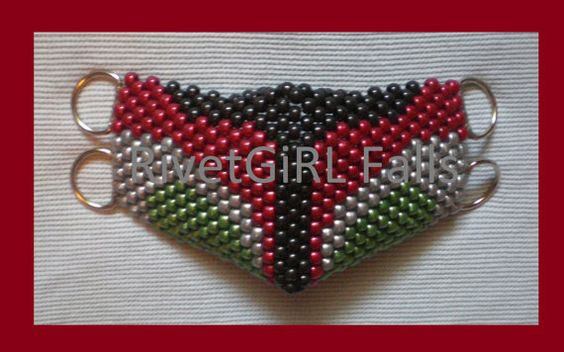 Boba Fett inspired Cyber Raver Kandi D-ring Mask by RivetGiRL Falls