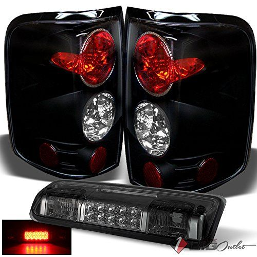 Xtune For 2004 2008 Ford F150 Lobo Black Tail Lights Smoked Led 3rd Brake Light Cargo Combo 2005 2006 2007 Ford F150 F150 Lights