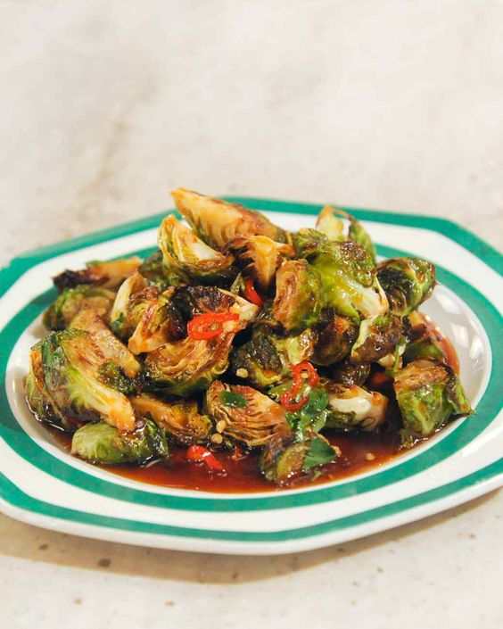 Saxon + Parole: Roasted Brussels Sprouts with Chile Caramel