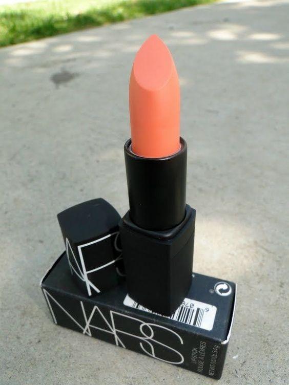 #lipstick #nars #orange #coral #pretty