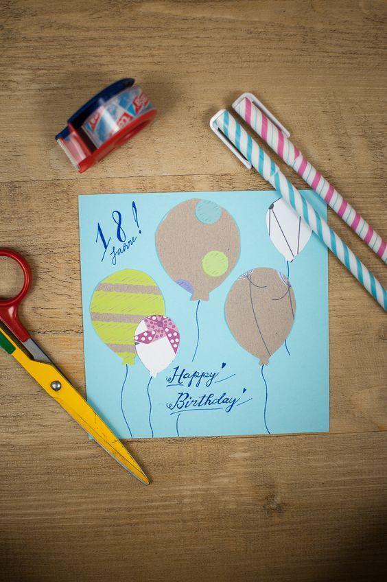 Eine sehr sch ne geburtstagskarte die ganz einfach zu basteln ist die ausf hrliche anleitung - Geburtstagskarte basteln kinder ...