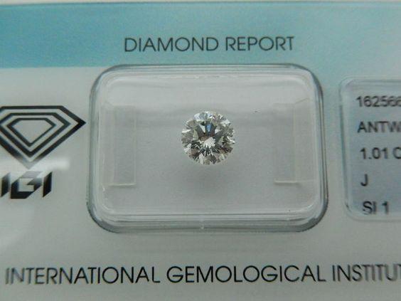 Catawiki Online-Auktionshaus: Diamant von 1,01kt  J/SI1