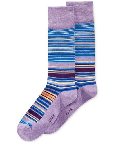 Alfani Men's Variegated Stripe Dress Socks, Only at Macy's - Underwear - Men - Macy's